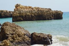 Paesaggio del Portoghese - il sud del Portogallo immagini stock