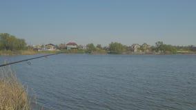 Paesaggio del posto da pesca stock footage
