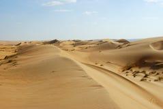 Paesaggio del quarto vuoto, Al Khali Desert dello sfregamento Immagine Stock