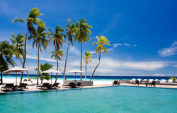 Paesaggio del ricorso tropicale Fotografia Stock Libera da Diritti