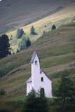 Paesaggio del ` s della dolomia e chiesa di Passo Gardena Fotografia Stock Libera da Diritti