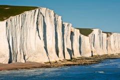 Paesaggio del sud dell'Inghilterra dei sette delle sorelle bassi delle scogliere Fotografia Stock