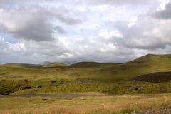 Paesaggio del sud dell'Islanda con gli altopiani Fotografia Stock Libera da Diritti