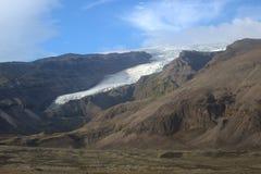 Paesaggio del sud dell'Islanda con il ghiacciaio Vatnajokull Fotografia Stock Libera da Diritti