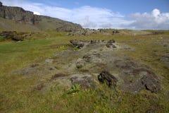 Paesaggio del sud dell'Islanda con outwash vulcanico Immagini Stock