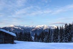 Paesaggio del sud delle montagne delle alpi della neve di Tirol Fotografia Stock Libera da Diritti