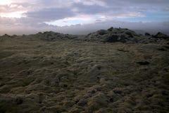 Paesaggio del sud di Myrdalsandur Islanda con outwash vulcanico Fotografia Stock Libera da Diritti