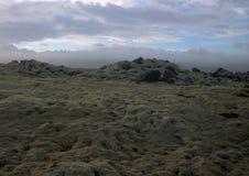 Paesaggio del sud di Myrdalsandur Islanda con outwash vulcanico Fotografia Stock