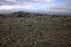 Paesaggio del sud di Myrdalsandur Islanda con outwash vulcanico Fotografie Stock