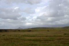 Paesaggio del sud di Myrdalsandur Islanda con outwash vulcanico Immagini Stock