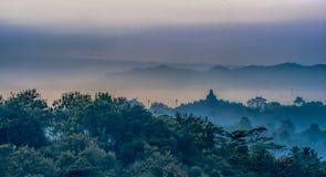 Paesaggio del tempio di Borobudur Immagini Stock