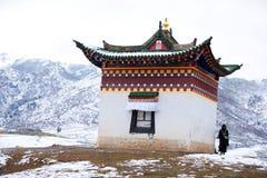 Paesaggio del tempio di Langmu fotografie stock