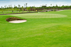 Paesaggio del terreno da golf Immagini Stock Libere da Diritti