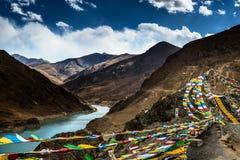 Paesaggio del Tibet Fotografia Stock