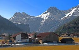 Paesaggio del Tirol nelle alpi di Otztal Immagine Stock