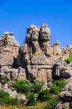 Paesaggio del Torcal de Antequera immagini stock libere da diritti