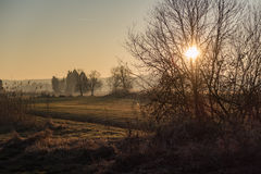 Paesaggio del tramonto Immagine Stock