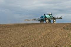 Paesaggio del trattore di agricoltura Immagini Stock