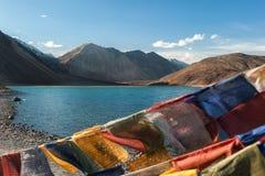 Paesaggio del TSO della fitta della montagna dell'Himalaya nel ladakh, leh India Fotografia Stock Libera da Diritti
