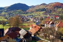 Paesaggio del villaggio Fotografie Stock Libere da Diritti