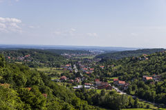 Paesaggio del villaggio Immagini Stock