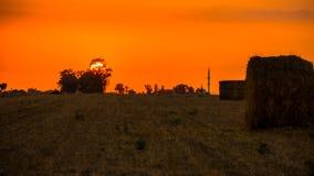Paesaggio del villaggio Fotografia Stock