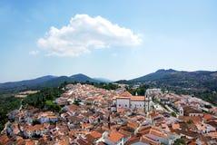 Paesaggio del villaggio di Castelo de vide Fotografie Stock