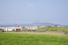 Paesaggio del villaggio di Gapado Immagine Stock