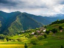 Paesaggio del villaggio di Ieli in Svaneti Immagine Stock Libera da Diritti
