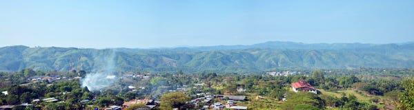 Paesaggio del villaggio di Payathonsu Immagini Stock Libere da Diritti