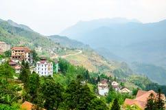 Paesaggio del villaggio di sapa Immagine Stock Libera da Diritti