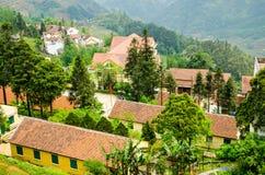 Paesaggio del villaggio di sapa Fotografie Stock