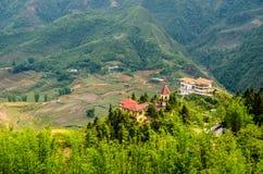 Paesaggio del villaggio di sapa Fotografia Stock