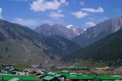 Paesaggio del villaggio di Sonamarg nel Kashmir Immagini Stock Libere da Diritti