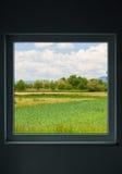 Paesaggio del villaggio in primavera Fotografia Stock