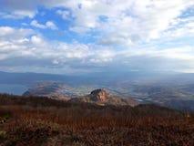 Paesaggio del vulcano morto Fotografia Stock Libera da Diritti