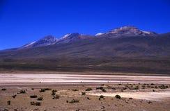 Paesaggio del vulcano nel Perù Fotografie Stock
