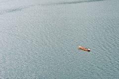 Paesaggio del Yunnan, Cina, lago Lugu Fotografia Stock