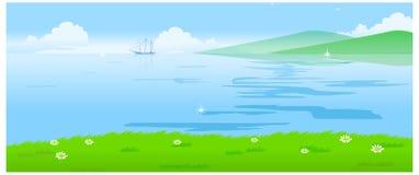 Paesaggio dell'acqua illustrazione vettoriale