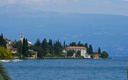 Paesaggio dell'acqua sul como Italia del lago Immagine Stock Libera da Diritti