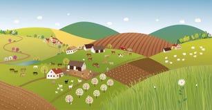 Paesaggio dell'agricoltore della primavera Fotografia Stock Libera da Diritti