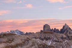 Paesaggio dell'alpe di Alpenglow Immagini Stock Libere da Diritti