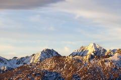 Paesaggio dell'alta montagna Fotografia Stock