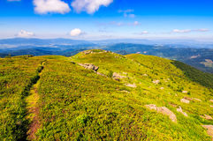 Paesaggio dell'alta montagna Immagini Stock