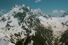 Paesaggio dell'alta montagna con le nuvole Immagine Stock Libera da Diritti