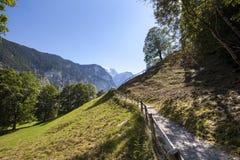 Paesaggio dell'alta montagna nelle alpi Fotografia Stock Libera da Diritti