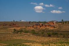 Paesaggio dell'altopiano del Madagascar Immagini Stock Libere da Diritti