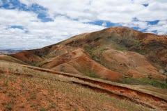 Paesaggio dell'altopiano della campagna del Madagascar Immagine Stock