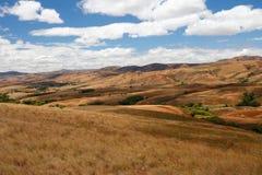 Paesaggio dell'altopiano della campagna del Madagascar Fotografia Stock
