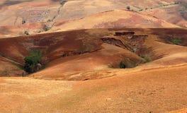 Paesaggio dell'altopiano della campagna del Madagascar Fotografia Stock Libera da Diritti